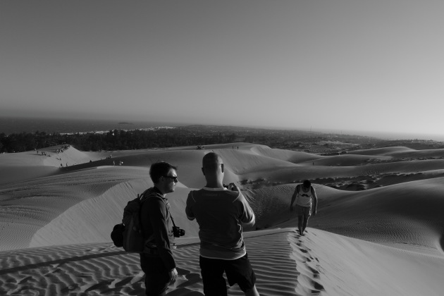 Tourists enjoying the Mui Ne Red Sand Dunes