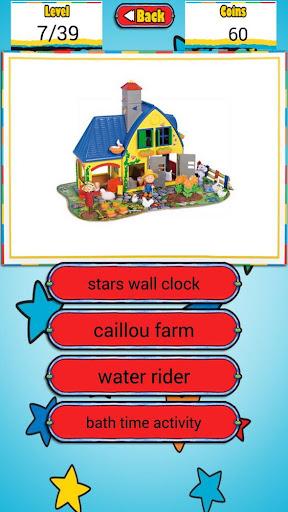 Quiz Caillou Toys