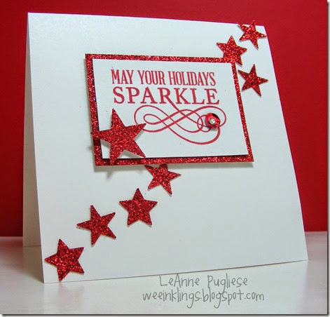 LeAnne Pugliese WeeInklings Merry Monday 108 Christmas Cards Stampin