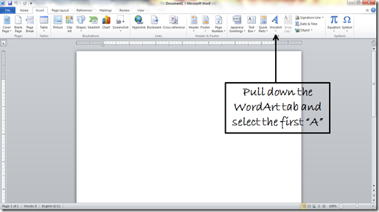 Make Mirror Image Text In Microsoft Word