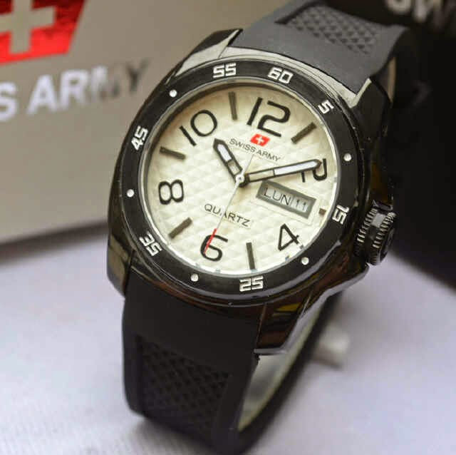 Jual jam tangan  Swiss Army SA73180 black original