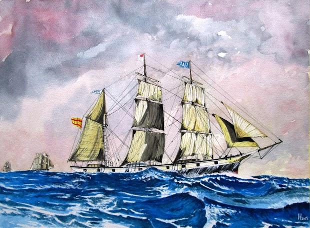La barca ROSITA. Acuarela de EL ILUSTRADOR DE BARCOS. Nuestro agradecimiento.JPG