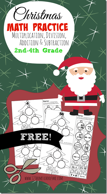 free christmas math worksheets cut and paste multiplication division subtraction and addition. Black Bedroom Furniture Sets. Home Design Ideas
