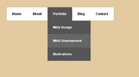 Menú desplegable CSS3 claro y oscuro
