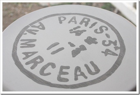 Paris Postmark Stool