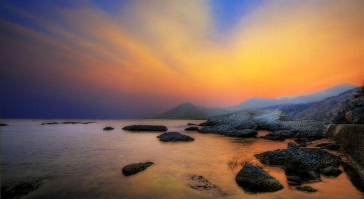 Mountainous Crete Sunset