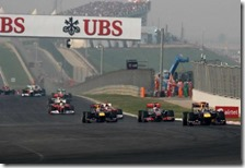 Il lungo rettilineo del Buddh International Circuit