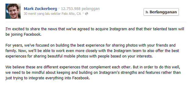 Facebook Beli Instagram