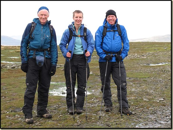 Martin, Gayle and Mick on Ingleborough Summit