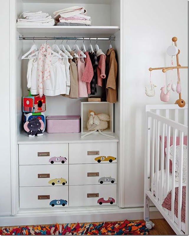Love this Adorable Closet -design addict mom #nursery #kids