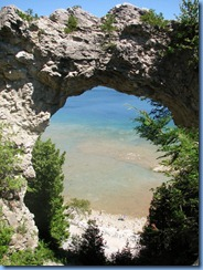 3368 Michigan Mackinac Island - Carriage Tours - Arch Rock