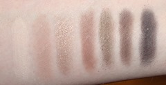 Smashbox Fade to Black Eye Shadow Palette_ Fade In swatches