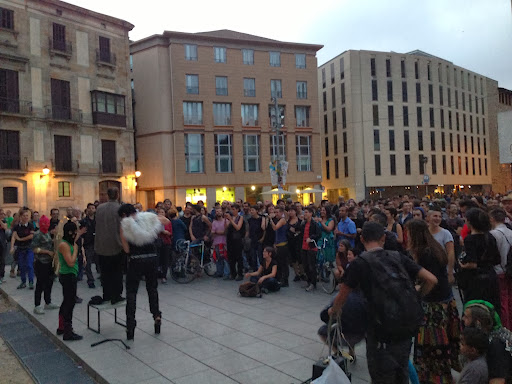 A march in Barcelona in solidarity with transgenders