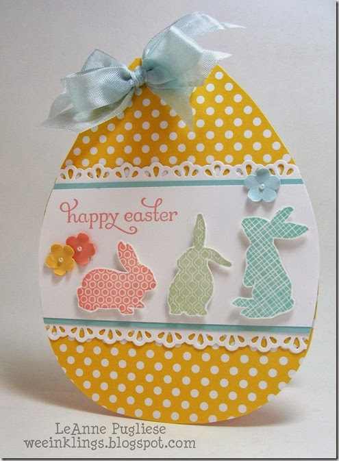 LeAnne Pugliese WeeInklings Paper Players 188 Easter Egg Stampin