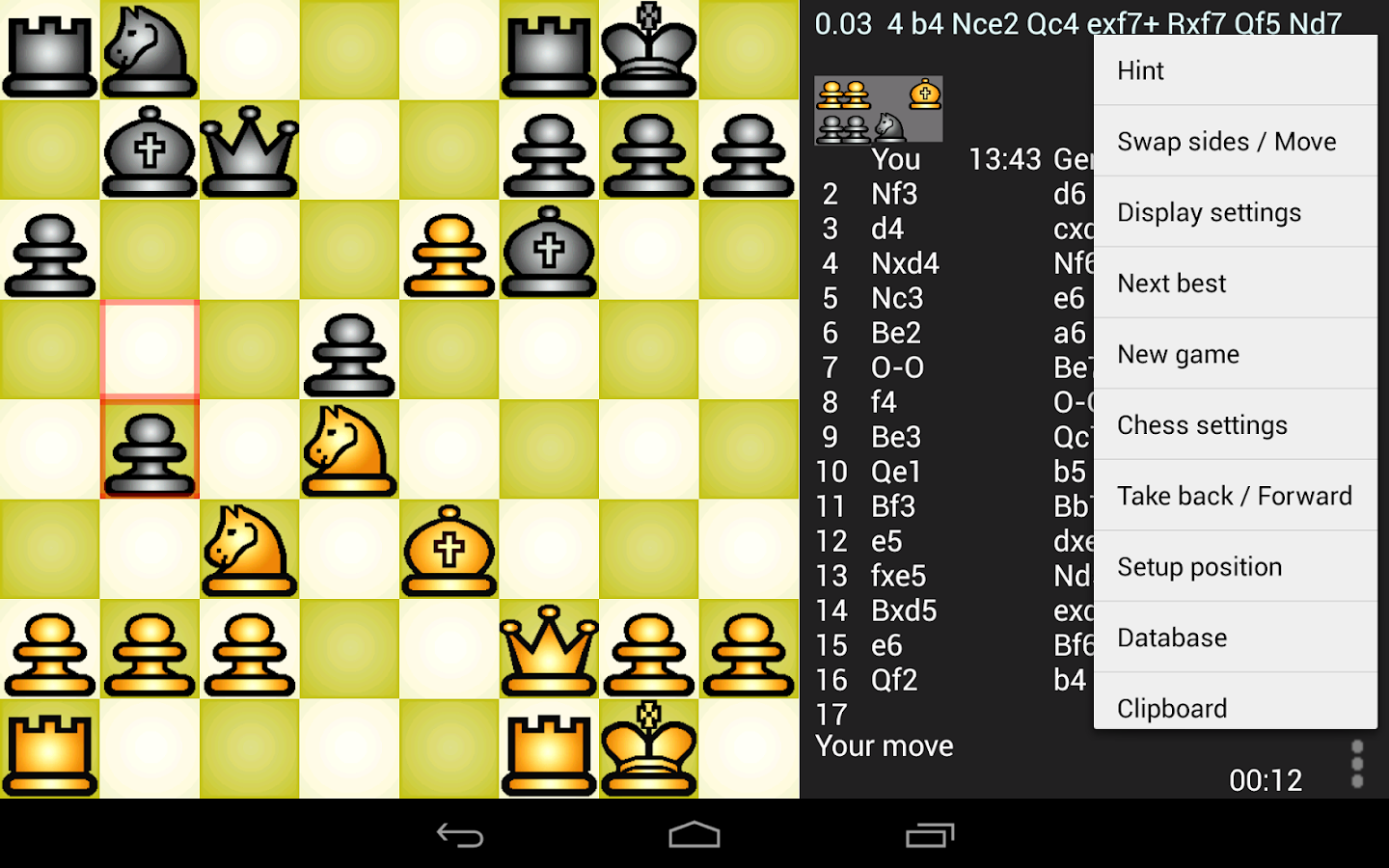 Chess Genius Lite- screenshot
