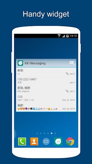 6 SMS KK (SMS/MMS, Lollipop SMS) App screenshot
