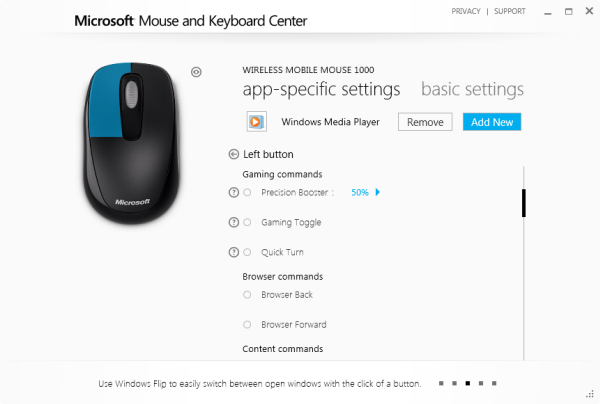 Microsoft Mouse and Keyboard Center Lets You Make Per Program