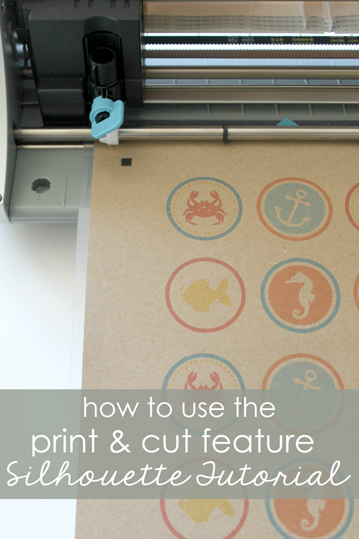 How to use the Print & Cut Feature (Silhouette Tutorial) at GingerSnapCrafts.com