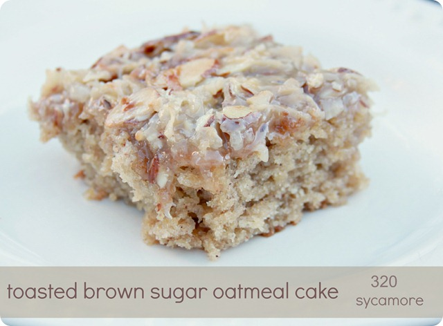 toasted brown sugar oatmeal cake
