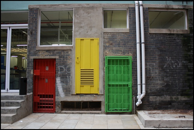 Coloured doorways in a Braamfontein alley