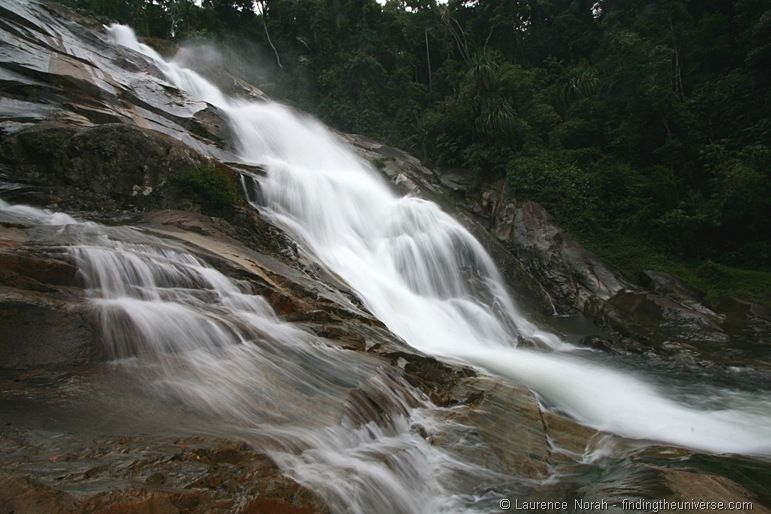Namtok Karom waterfall level 7 Khao Luang National Park Thailand side view