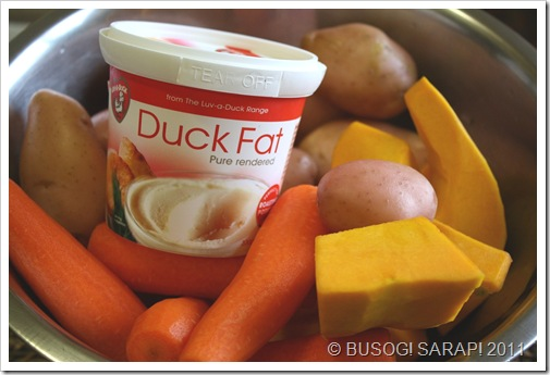 ROAST VEGES WITH DUCK FAT INGREDIENTS© BUSOG! SARAP! 2011