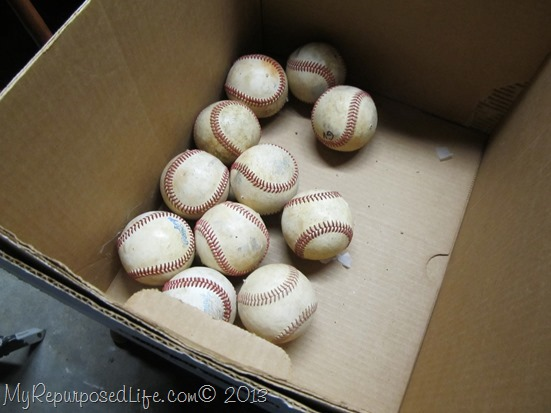 repurposed baseballs