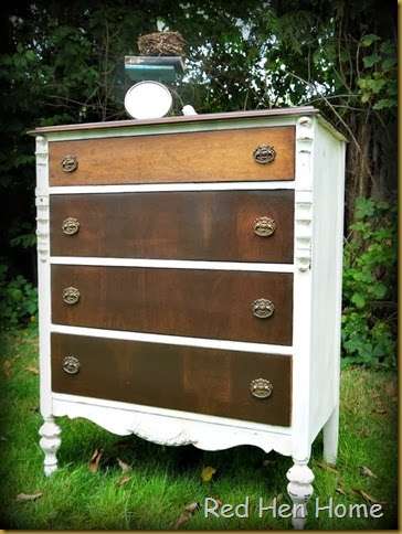 Red Hen Home White & Wood Dresser 3