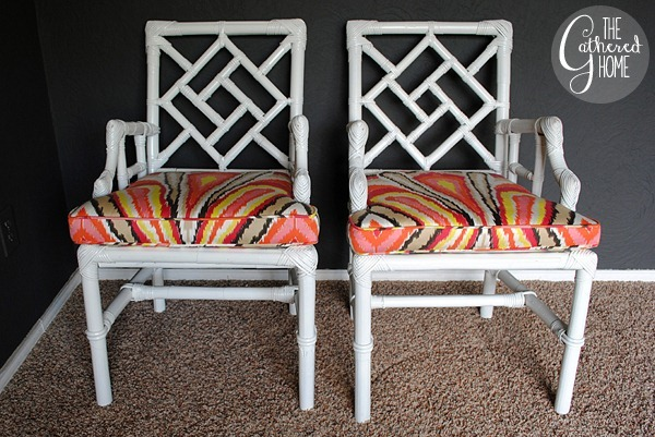 wicker chinese chippendale chairs 7