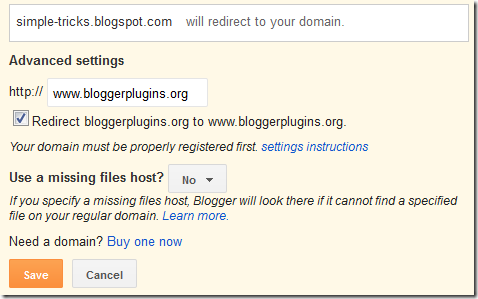 redirect-domain-root-blogger