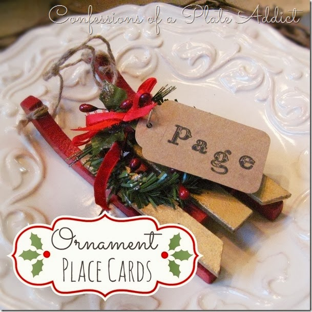 CONFESSIONS OF A PLATE ADDICT Ornament Place Cards