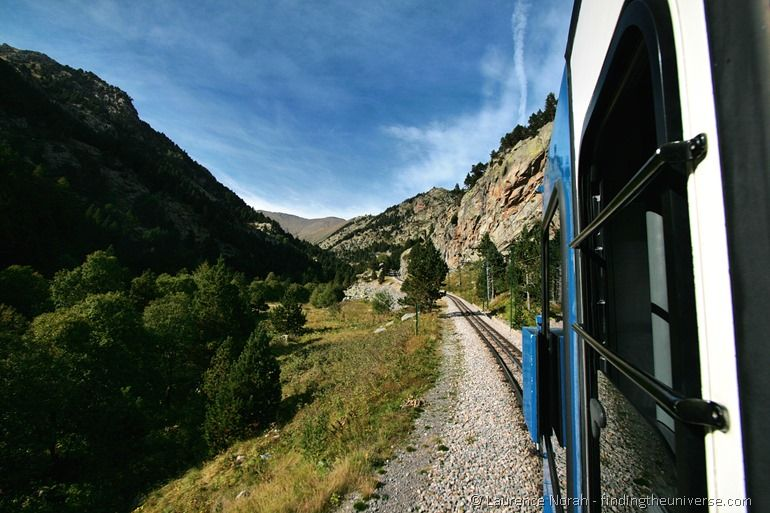 Train ride to the Nuria Valley