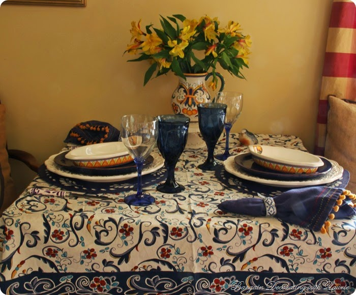 Tablescape, Bargain Decorating with Laurie