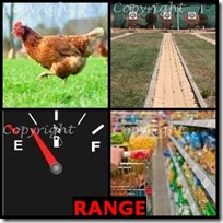 RANGE- 4 Pics 1 Word Answers 3 Letters