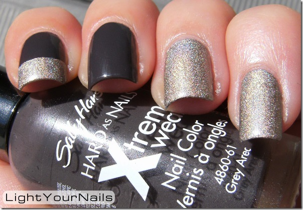 Sally Hansen Xtreme Wear Grey Area Kiko holo 399