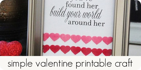 simple valentine printable