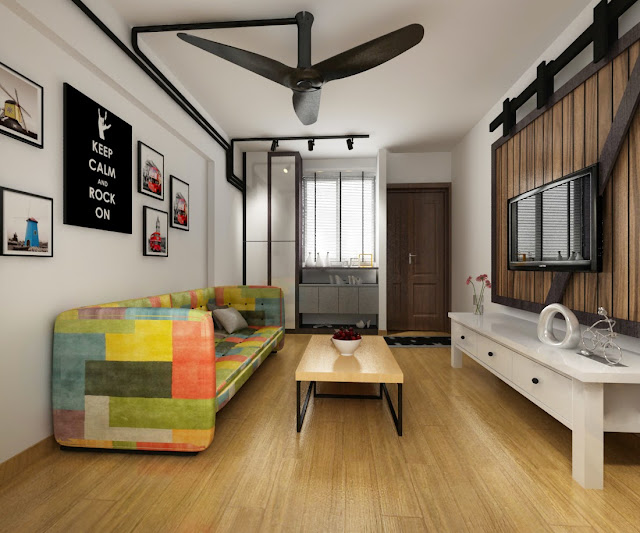 Interior design guide hdb 3 room interior design for Industrial minimalist design