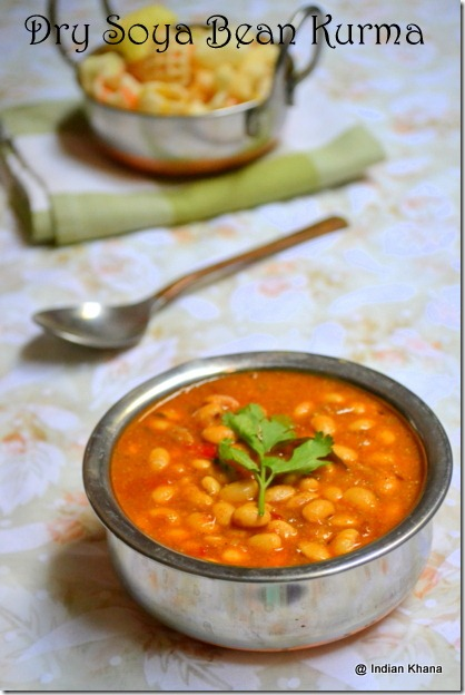 Dry Soya Bean Kurma recipe