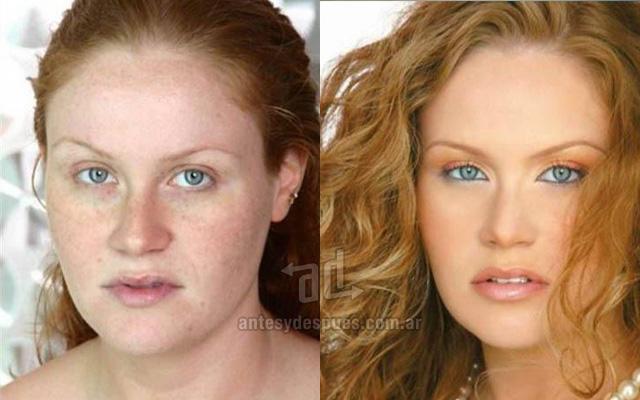 Antes y despues del maquillaje 11