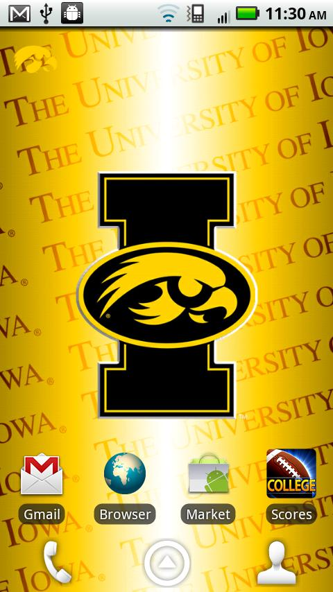 Iowa Hawkeyes Revolving WP- screenshot