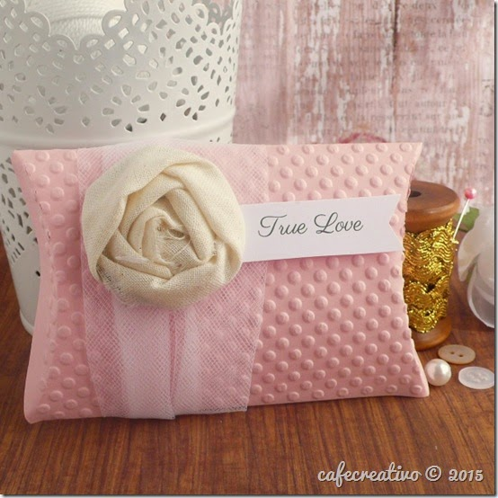 cafecreativo - pillow box - romantic - shabby chic - scatolina bomboniera portaconfetti - matrimonio