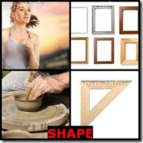 SHAPE- 4 Pics 1 Word Answers 3 Letters