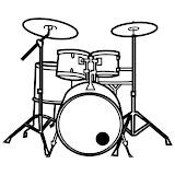 Dibujos De Baterias Musicales Para Colorear