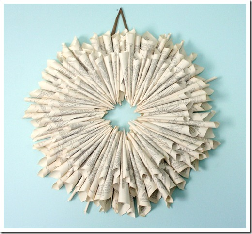 imitation pottery barn paper wreath