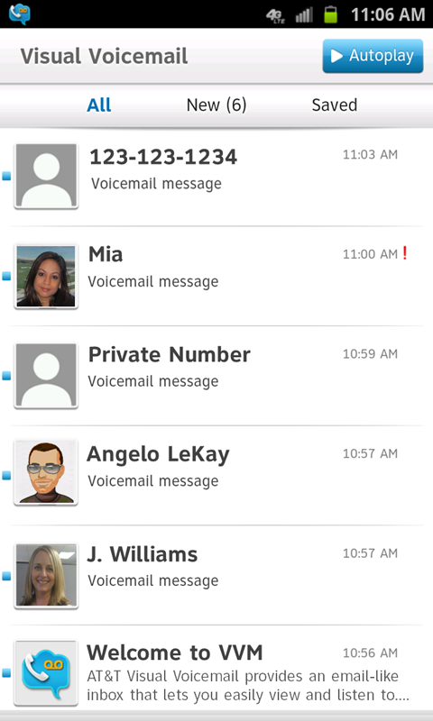At Amp T Visual Voicemail Android Apps On Google Play