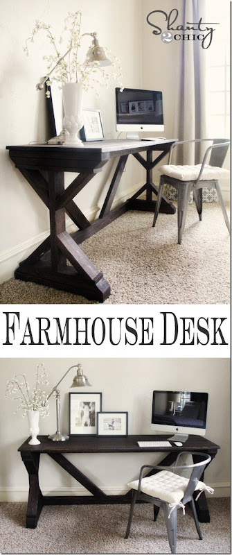 farmhouse desk diy