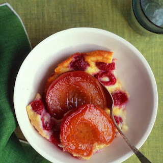 Peach-Raspberry Clafouti