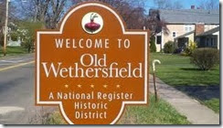 historic wethersfield sign