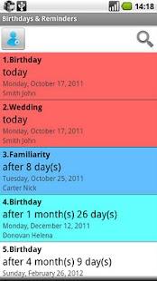 Birthdays & Reminders