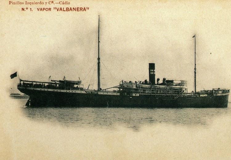 Bonita postal del VALBANERA. Foto cedida por el Sr. Don German Perez Hidalgo. Del libro El Misterio del VALBANERA.jpg